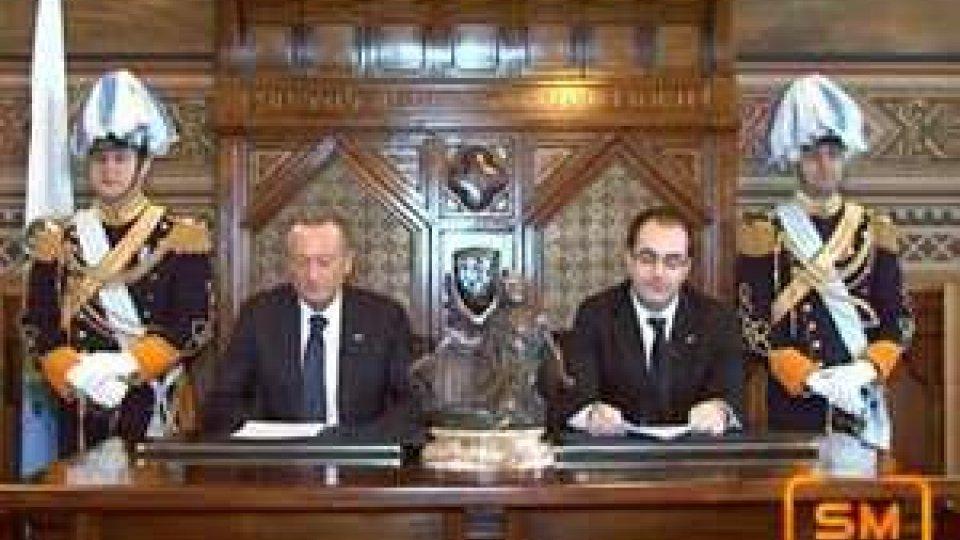 San Marino - Messaggio di fine anno degli Eccellentissimi Capitani Reggenti