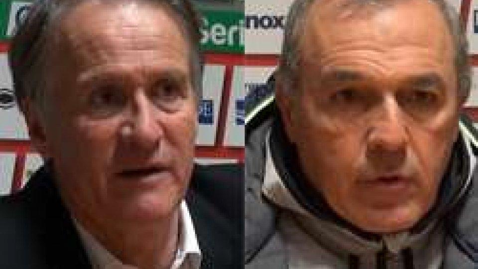 Attilio Tesser e Fabrizio CastoriCremonese-Cesena: il commento degli allenatori