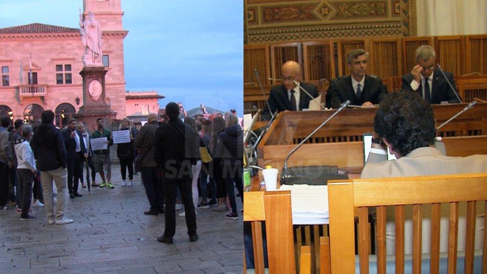 La manifestazione e la Commissione FInanze