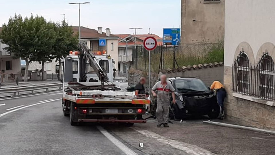 L'incidente avvenuto a Borgo Maggiore