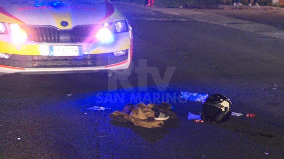 Le immagini dell'incidente tra via Italia e la via Emilia