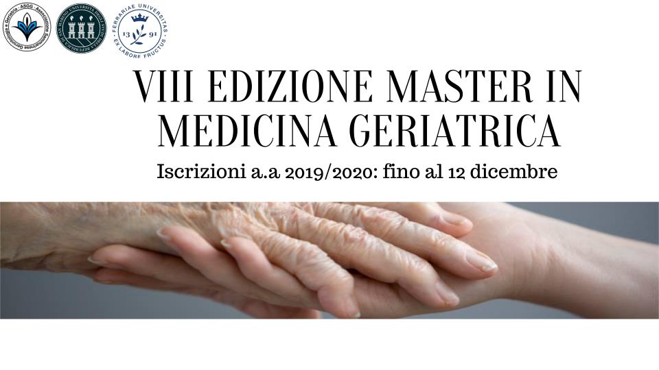 15 i dottori usciti dal Master in Medicina Geriatrica di Università San Marino e Ferrara