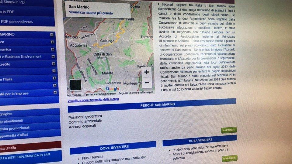 Sul sito della Farnesina i motivi per investire a San Marino
