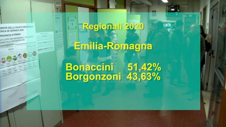 """Il presidente Bonaccini dopo la vittoria: """"Straordinaria risposta corale dell'Emilia-Romagna"""""""