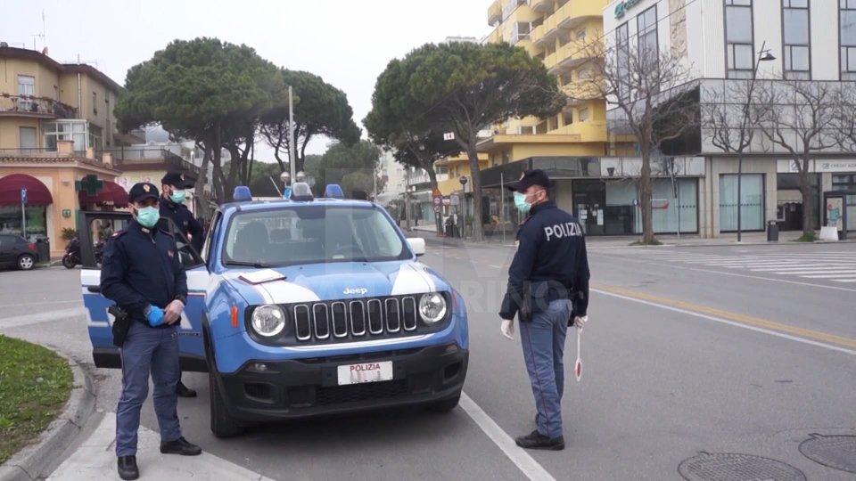Controlli della Polizia a Rimini