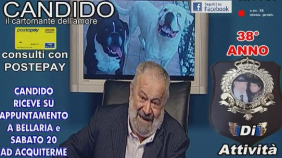 Il mago Candido nei consulti televisivi