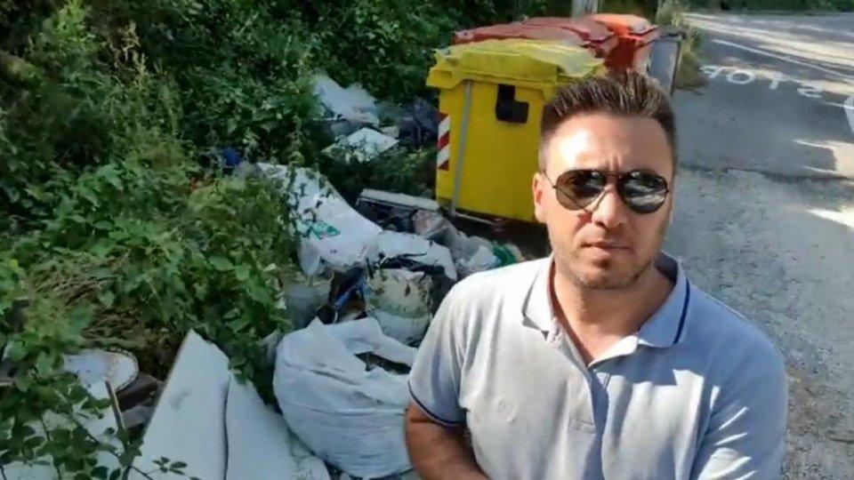 Un frame del video del Sindaco Elia Rossi