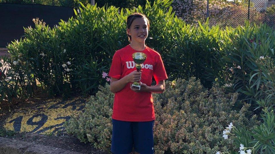Tennis: Talita Giardi trionfa nel torneo U12 di Cattolica