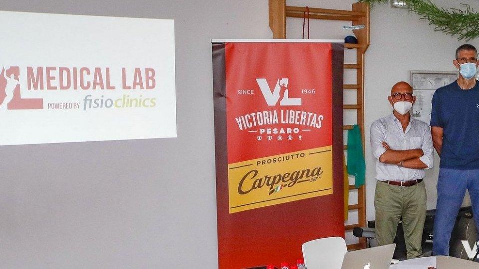 Carpegna Prosciutto Basket Pesaro e Fisioclinics insieme: nasce il VL Medical Lab