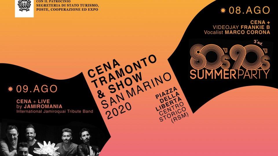 """""""Cena, tramonto & show"""", sold out uno dei due eventi"""