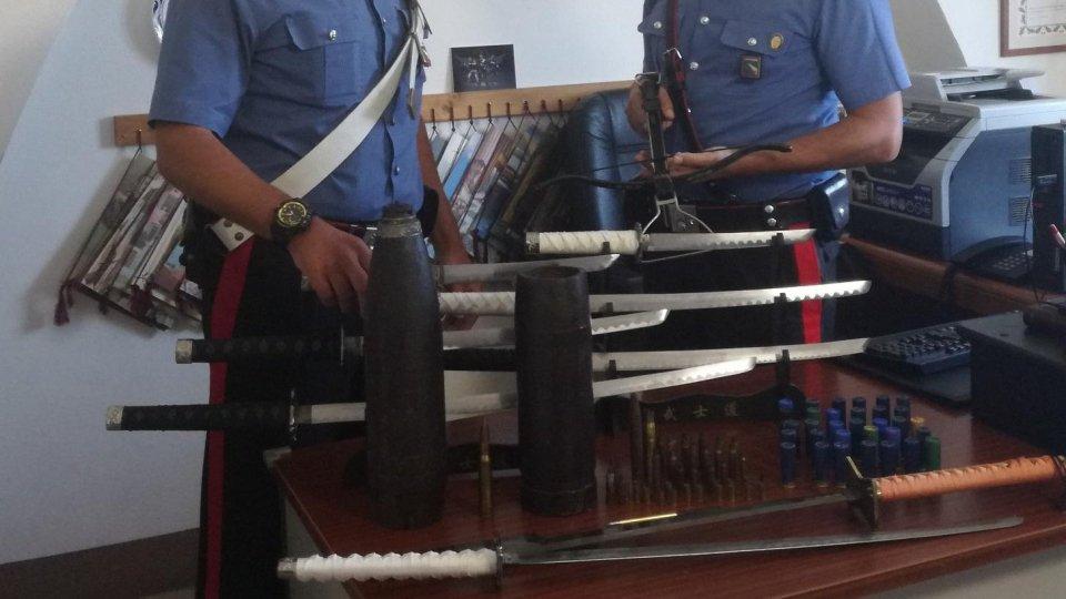 """Scovato un """"magazzino esplosivo"""" a San Clemente: arrestato antiquario"""