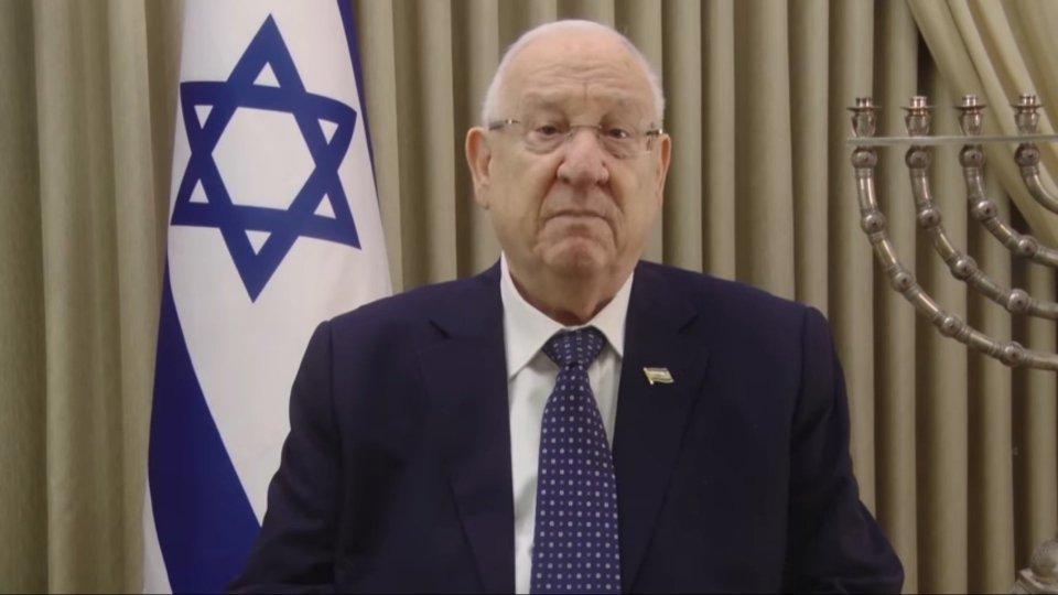 Il Presidente Rivlin (facebook @ReuvenRivlin)