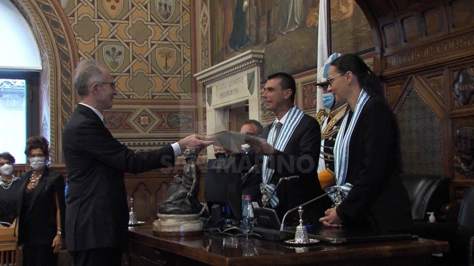 la consegna delle CredenzialiSentiamo Sergio Mercuri