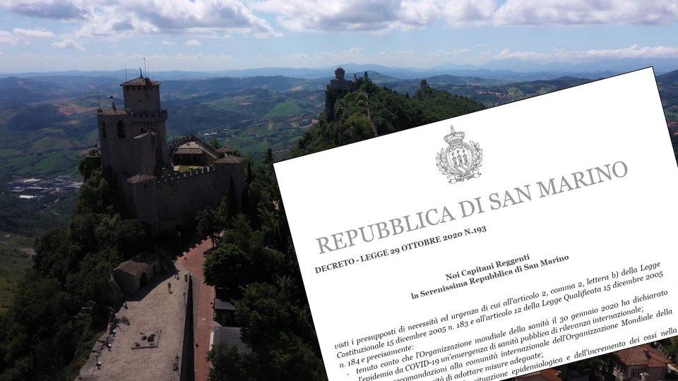 San Marino: emesso il decreto n.193, in vigore dalle 18 di venerdì