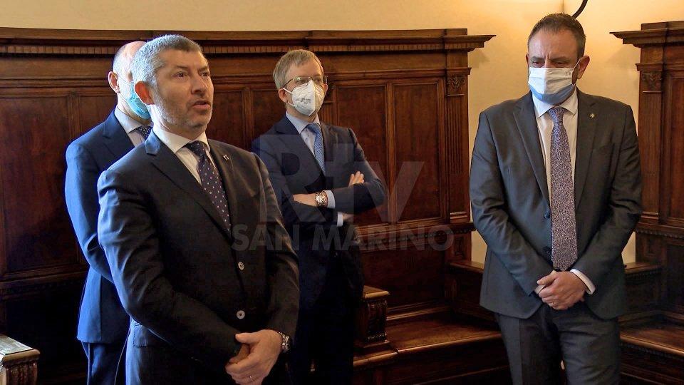 Il Sottosegretario agli esteri Ivan Scalfarotto a colloquio con la Reggenza