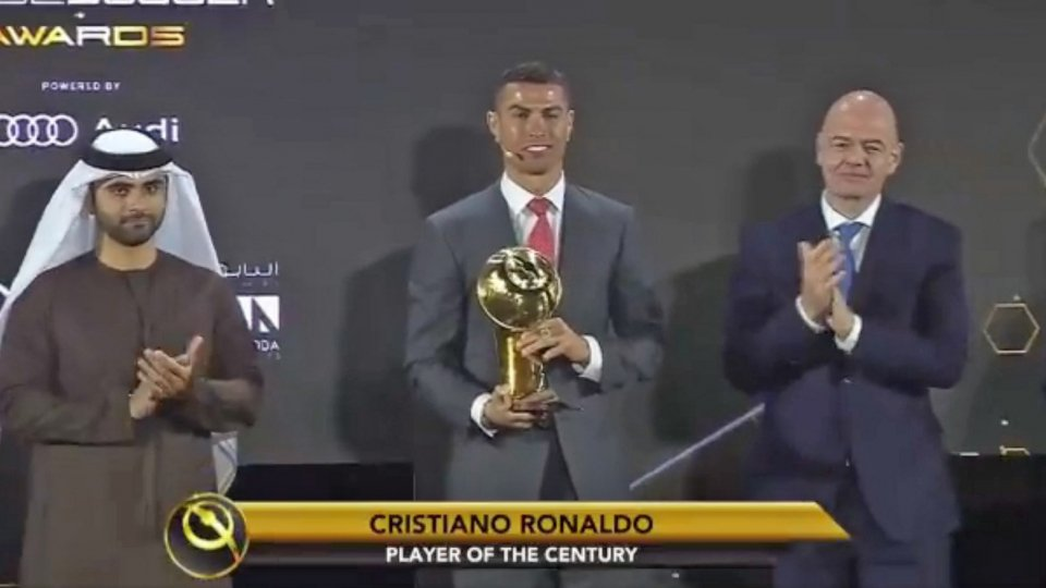 Glober Soccer Awards: Cristiano Ronaldo è il miglior giocatore del secolo