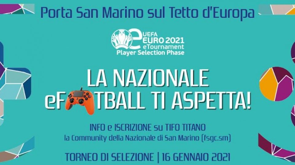 eEuro 2021: sabato il torneo di selezione