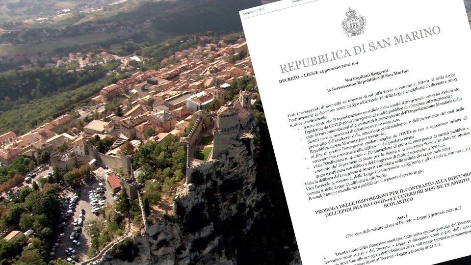 San Marino: emesso il decreto n.4 che proroga le misure anti contagio al 1° febbraio