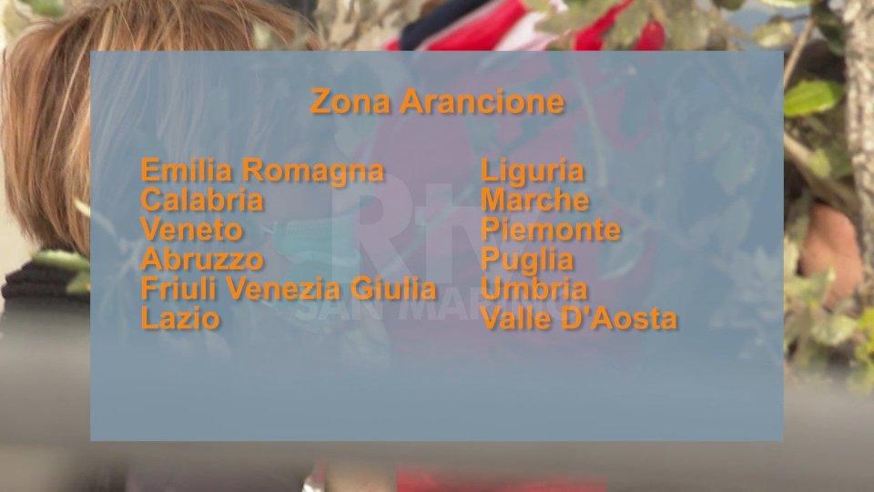 Da domenica 12 Regioni in zona arancione, tra cui Emilia Romagna e Marche