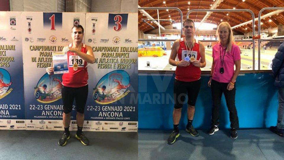 Per Marchetti 2 ori e un argento agli Italiani Indoor