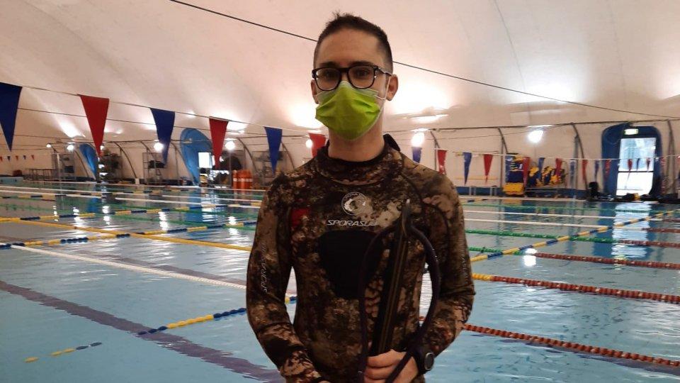 Tiro al bersaglio subacqueo: esordio per Davide Cesarini