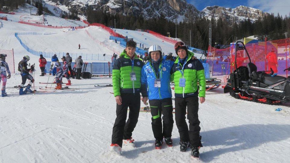Cortina: Matteo Gatti e Alberto Tamagnini in pista per il Gigante