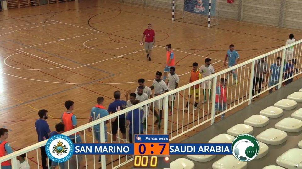 Futsal Week: San Marino cede all'Arabia Saudita 7-0