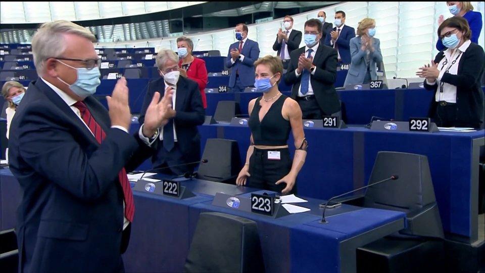 Al Parlamento Europeo standing ovation per Bebe Vio
