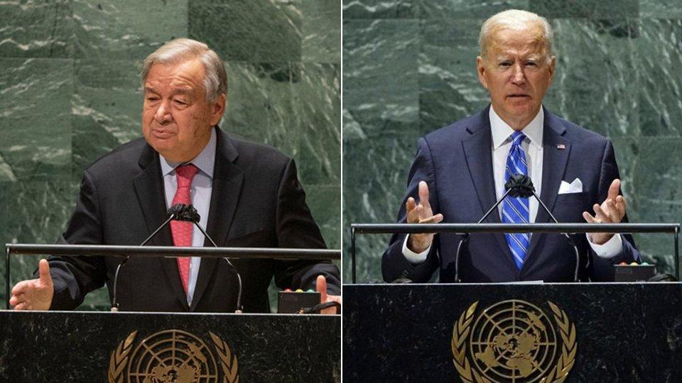 """Onu, Guterres: """"Crescono i divari nel mondo, scandaloso quello dei vaccini""""; primo discorso per Biden"""