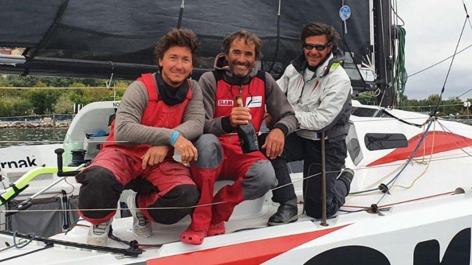 L'equipaggio di SMR121, Myo, Karnak, Stefano Raspadori, Alberto Bona e Andrea Caracci