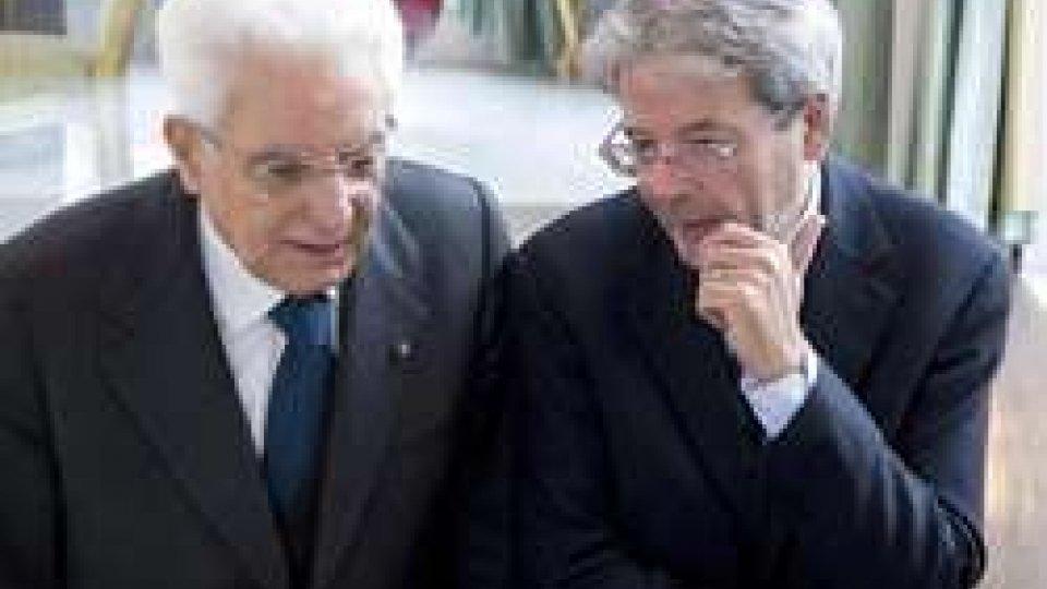Sergio Mattarella e Paolo Gentiloni (@Ansa)