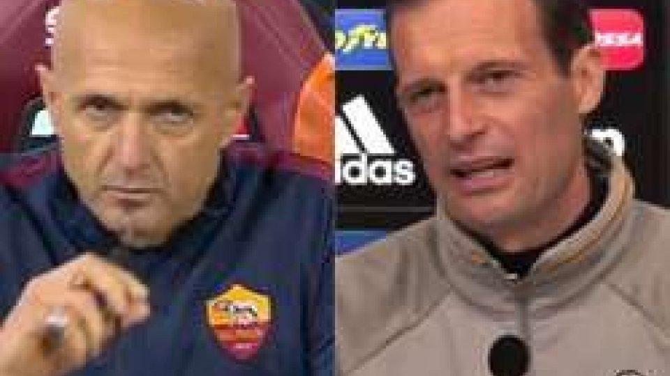 Spalletti e AllegriJuve-Roma: sorpresa Salah, dubbio HD