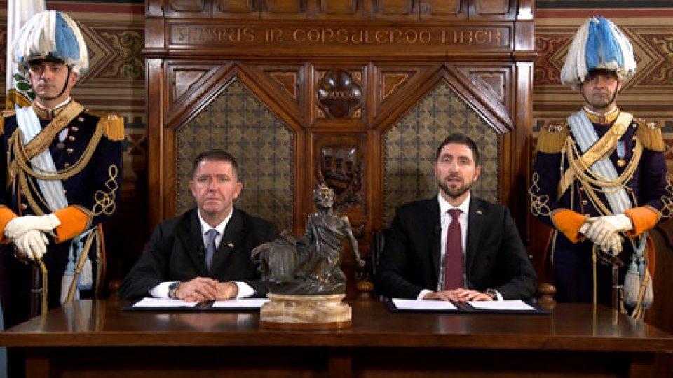 Mirco Tomassoni e Luca SantoliniMessaggio Reggenza: invito ai giovani ad essere protagonisti