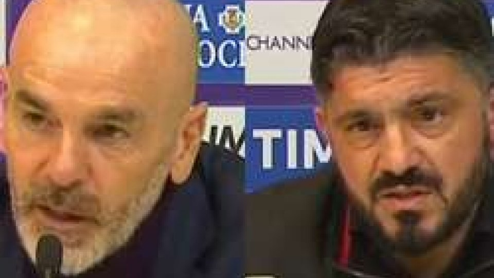 Stefano Pioli - Gennaro GattusoSerie A: pari tra Fiorentina e Milan