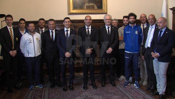 La Reggenza ha ricevuto i dirigenti e giocatori di Tre Penne, Tre Fiori, La Fiorita e Fiorentino Futsal