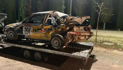 Pauroso incidente per i sammarinesi Moroni/Baldani al Rally delle Marche