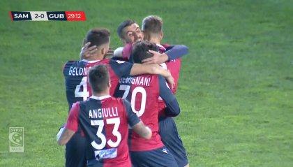 Di Massimo-Cernigoi, la Samb stende 2-0 il Gubbio