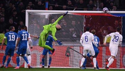 Juventus opaca a Lione, sconfitta 1-0