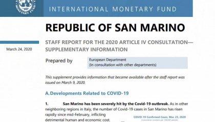 Coronavirus: corretta, secondo l'FMI, la reazione di San Marino all'epidemia