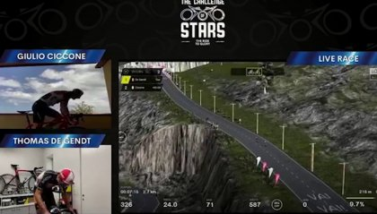 """The Challenge of Stars"": Ciccone re ""virtuale"" dello Stelvio"