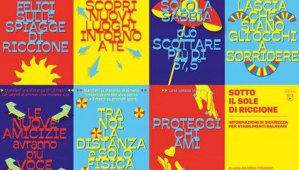 """Manifesti colorati e un invito a vivere l'estate: Riccione si prepara alla sua stagione """"sicura"""""""