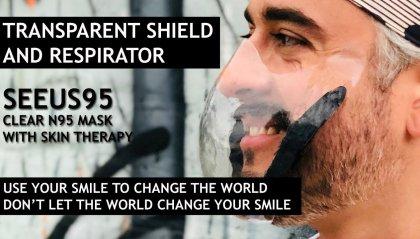 SEEUS95, la futuristica mascherina trasparente e senza lacci