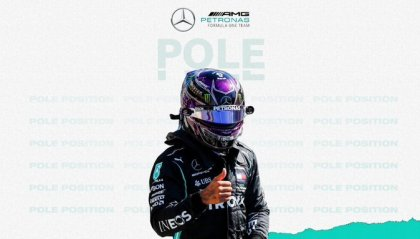 F1: pole di Hamilton. L'inglese parte per la 96° volta davanti a tutti
