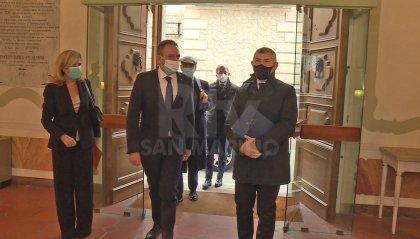 """Visita del sottosegretario Scalfarotto: obiettivo risolvere i dossier aperti. Segretario Beccari: """"Giornata proficua"""""""
