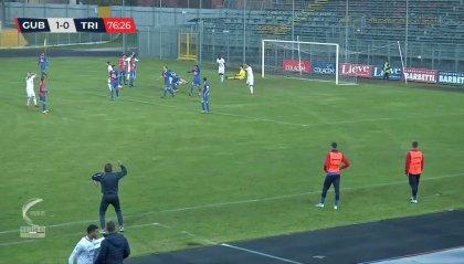 Il Gubbio batte la Triestina e conquista la prima vittoria casalinga