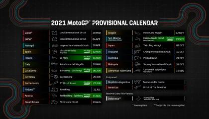 Cambia il calendario della Moto GP