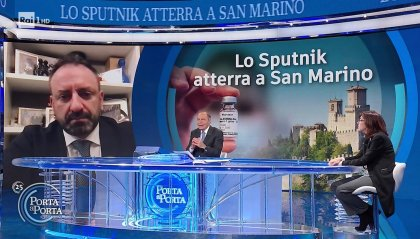 Sputnik a San Marino: ne parla la stampa italiana. Da Carta Bianca a Porta a Porta. Presenti in conferenza stampa ISS diverse troupe televisive