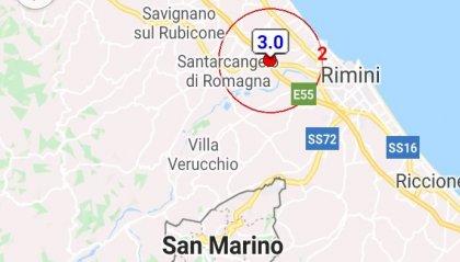 Terremoto di magnitudo 3.0, localizzato a est di Santarcangelo