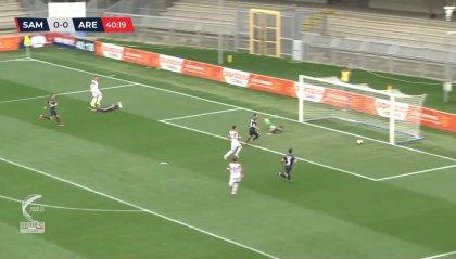 Samb, basta la punizione di Botta: 1-0 all'Arezzo