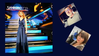 Monica Hill protagonista insieme all'orchestra al Festival di Sanremo